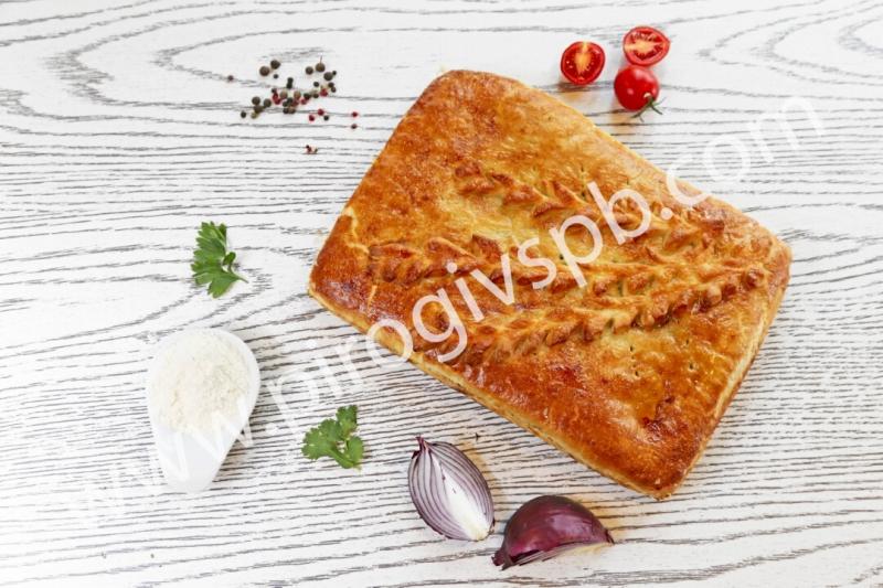 Пирог с рисом и яйцом
