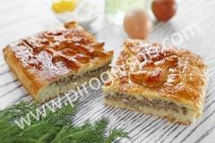 Пирог с мясом и яйцом