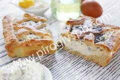 Пирог с творогом и маком